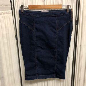 EUC - Guess Denim Pencil Skirt - Size 27